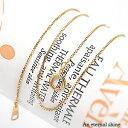 ベネチアンチェーン 18金 18k k18 イエローゴールド ピンクゴールド ホワイトゴールド 40cm アジャスター管付 クサリ …