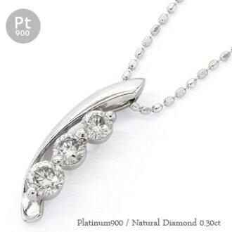 Auc eternal rakuten global market diamond necklace trilogy diamond necklace trilogy necklace three stone 030 ct platinum 900 pt900 pendant audiocablefo light Images