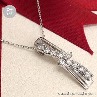 Diamond necklace Platinum 900 (PT900) 0.30 ct diamond Memorial Memorial Day jewelry pendant