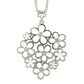 プラチナ900 pt900 ダイヤモンド ネックレス ペンダント フラワー 0.05ct レディース ジュエリー アクセサリー プレゼント ギフト