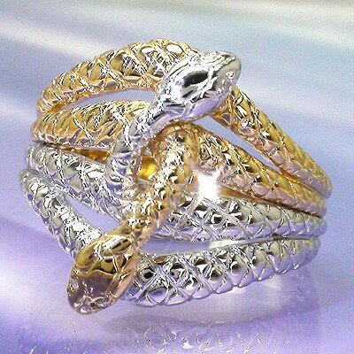 【送料無料】蛇 ヘビ リング 指輪 スネークリング ホワイトゴールドK18 K18 ダイヤモンド 0.02ct ダイヤリング【コンビニ受取対応商品】 クリスマス プレゼント