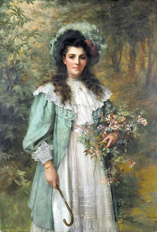 Oil painting William Clarke Wontner _ Honeysuckle