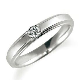 ペアリング(女性用) 結婚指輪 婚約指輪 マリッジリング プラチナ900 ダイヤモンドリング 0.1ct 《Proud M1037L》 【刻印無料 ケース付き 送料無料】【RCP】