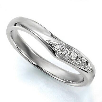 ペアリング(女性用) 結婚指輪 マリッジリング 結婚記念 K18ホワイトゴールド ダイヤモンドリング 《Wish M0036L》 【刻印無料 ケース付き 送料無料】 【RCP】 【532P17Sep16】