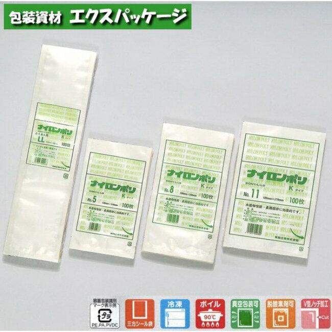 【福助工業】ナイロンポリ Kタイプ No.7 3000入 0702072 【ケース販売】