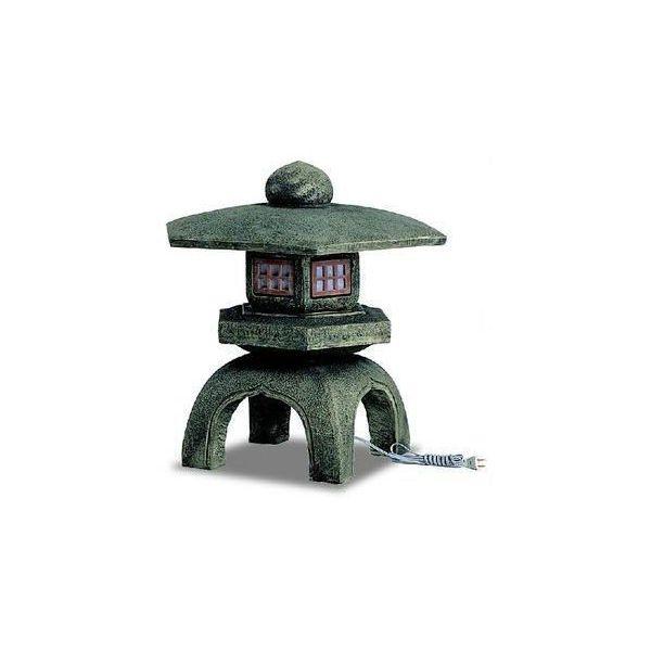 灯篭とうろう「古代雪見灯篭」人工石 450mm×450mm×H450送料無料 格安