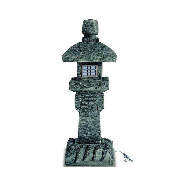 灯篭とうろう「織部灯篭 」人工石 430mm×430mm×1200mm 送料無料 格安