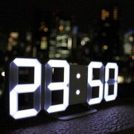 【即納】暗闇に数字が浮かび上がる 3Dデザイン LED時計 ネオン 文字だけ 時計 癒し いやし グッズ ギフト おしゃれ インテリア プレゼント 3D LED デジタル時計 Tri Clock トリクロック 寝室用 リビング用 ワンルーム用 店舗用 立体 卓上 壁掛け USB ネオン時計