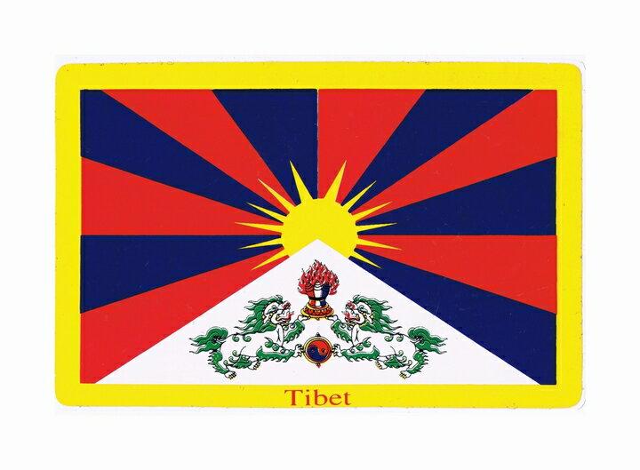 チベット国旗 ステッカー デカール フリーチベット スノーライオン Free Tibet エスニック アジアン雑貨