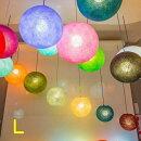 コットンボールランプシェードCOTTONBALLLAMPSHADEコットンボールランプカバー全10色イルミネーションインテリアライトカラフルボール室内照明間接照明アジアン照明タイ雑貨アジアン雑貨