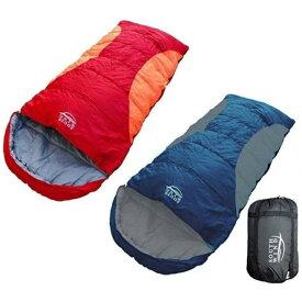 丸洗いのできる 寝袋 BIGサイズ シュラフ 封筒型 耐寒温度 -5℃ コンパクト収納 オールシーズン 【SOUTH WIND】