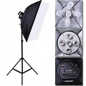 撮影照明セット 5灯ソケット 撮影 照明 撮影キット 撮影スタンド ライト 写真撮影 スタジオライト 撮影用照明 スタジオ照明 スタジオライト 撮影用ライト 撮影用品 カメラ スタンド セット キット 物撮り スタンド 撮影用 LED照明 LED フォトスタジオ