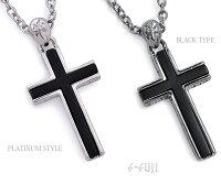 【f-fuji】(メール便送料無料)「ブラッククロスネックレス」ユニセックス|プレゼントにも最適|十字架|【smtb-KD】