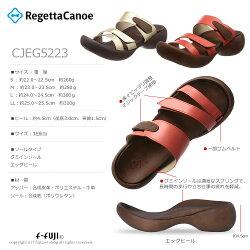期間限定クーポン有リゲッタカヌーCJEG5223RegettaCanoeサンダルコーラルシャンパンゴールドエッグヒールサンダルサイズ交換再送料1回無料