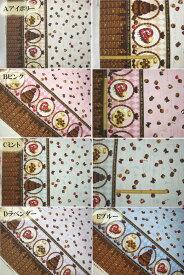 411 片耳板チョコプリント チョコレート オックスプリント 生地 ラメ スイーツ