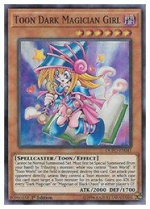 英語版(北米版) 茶 Toon Dark Magician Girl(U)(1st)(トゥーン・ブラック・マジシャン・ガール)(DUPO)
