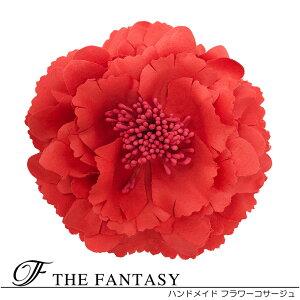 コサージュ 入学式 コサージュ フォーマル 2way ヘッドドレス 牡丹 コサージュ 赤 結婚式 髪飾り fh12032rd
