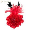 コサージュ 入学式 コサージュ フォーマル 2way ヘッドドレス 卒業式 赤 コサージュ 結婚式 髪飾り fh18008rd