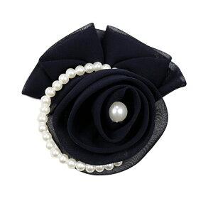 コサージュ 入学式 コサージュ フォーマル 2way ヘッドドレス 卒業式 花 コサージュ結婚式 髪飾り fh19135bk