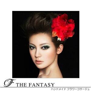 コサージュ 赤 コサージュ 蘭 髪飾り 2way ヘッドドレス fh19158rd