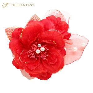 コサージュ 入学式 コサージュ フォーマル 2way ヘッドドレス 桜 コサージュ 赤 花 結婚式 髪飾り fh19160rd