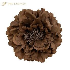 コサージュ 入学式 コサージュ フォーマル 2way ヘッドドレス 牡丹 コサージュ ブラウン 結婚式 髪飾り fh7003dbn