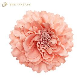 コサージュ 入学式 コサージュ フォーマル 2way ヘッドドレス 牡丹 コサージュ サーモンピンク 結婚式 髪飾り fh7003spk