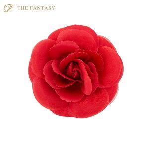 コサージュ バラ コサージュ 2way 赤 髪飾り ヘッドドレス fh7019rd