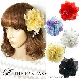 コサージュ 入学式 コサージュ フォーマル 2way ヘッドドレス 卒業式 花 コサージュ結婚式 髪飾り fh19161