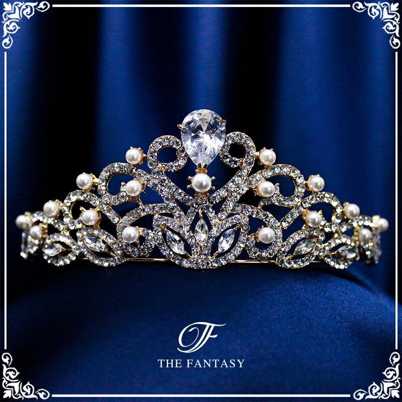 ティアラ 結婚式 キュービックジルコニア 王冠 ウエディング ティアラ ブライダル tiara 髪飾り ft8047plgd