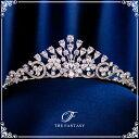 ティアラ ウェディング 金メッキ ティアラ CZキュービック 王冠 ティアラ シルバー 結婚式 クラウン ヘッドドレス 花冠 ft9236sr
