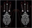 (ファンタジー) TheFantasy 絵柄(型抜き)シール ヘナタトゥー グリッタータトゥー 用の ステンシルシート 左右セット scf04