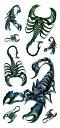 (ファンタジー) TheFantasy タトゥーシール タトゥーシール 3D 立体感 蠍 さそり 3d14 【レギュラー】