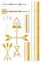 (ファンタジー) TheFantasy フラッシュタトゥー フラッシュタトゥーシール ブレスレット 矢印 矢 gt010 【中型・A5】