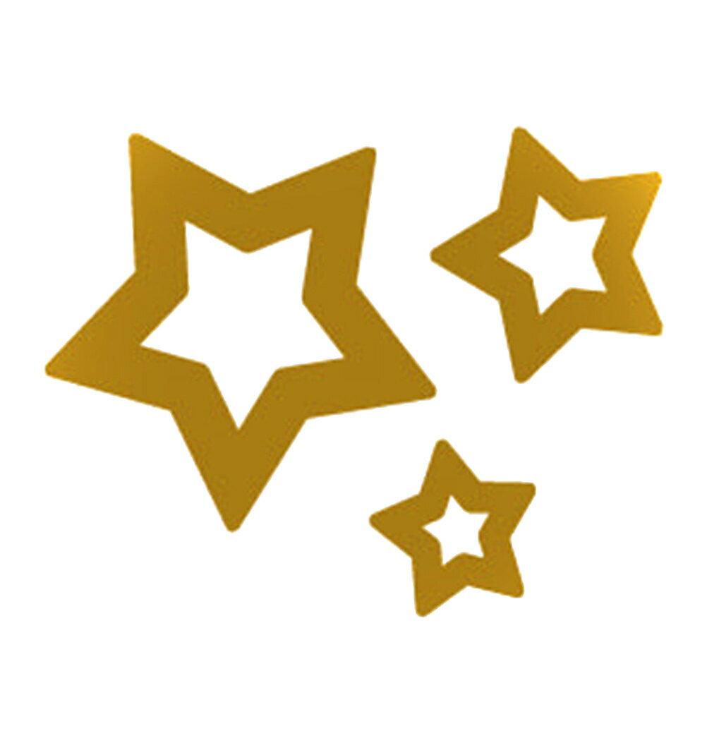 (ファンタジー) TheFantasy フラッシュタトゥー フラッシュタトゥーシール 星 gtm011g 金色【ワンポイント・5枚セット】