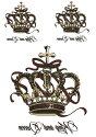 タトゥーシールタトゥーシール王冠クラウン/hb031