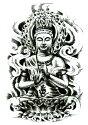 タトゥーシールタトゥーシール仏仏像/hb097