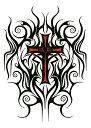 (ファンタジー) TheFantasy タトゥーシール タトゥーシール クロス 十字架 hb502 【中型・A5】