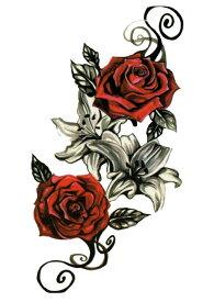 (ファンタジー) TheFantasy タトゥーシール タトゥーシール ローズ 薔薇 hb516 【中型・A5】