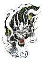 (ファンタジー) TheFantasy タトゥーシール タトゥーシール 龍 ドラゴン hb875【中型・A5】