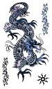 (ファンタジー) TheFantasy タトゥーシール タトゥーシール ドラゴン 龍 竜 hm063 【レギュラー】