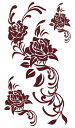 (ファンタジー) TheFantasy タトゥーシール タトゥーシール 薔薇 バラ トライバル ブラウン hm273b 【レギュラー】