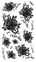 (ファンタジー) TheFantasy タトゥーシール タトゥーシール バラ 薔薇 文字 hm424 【レギュラー】