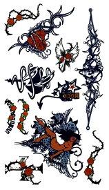 (ファンタジー) TheFantasy タトゥーシール タトゥーシール ハート 妖精 髑髏 クロス hm468 【レギュラー】