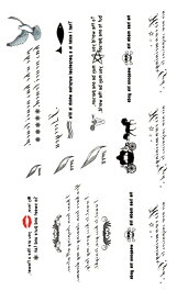 (ファンタジー) TheFantasy タトゥーシール タトゥーシール 文字 マーク hm597 【レギュラー】