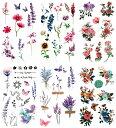 [KING HORSE (キングホース)] タトゥーシール 花 牡丹 月桂 薔薇 椿 蓮[通常サイズ・6種6枚] hm6005