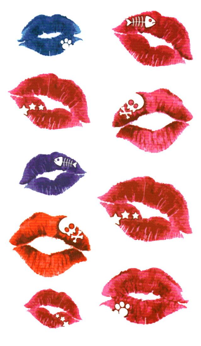 (ファンタジー) TheFantasy タトゥーシール タトゥーシール 唇 キス 髑髏 hm639 【レギュラー】