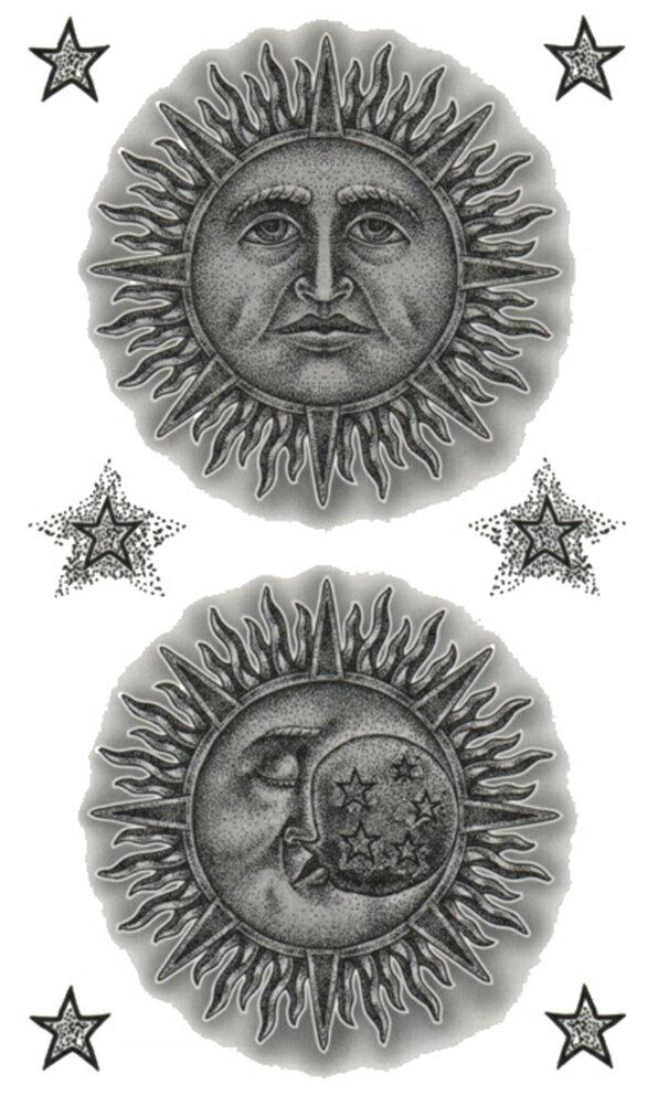 (ファンタジー) TheFantasy タトゥーシール タトゥーシール 太陽と月 星 hm757 【レギュラー】