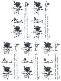 (ファンタジー) TheFantasy タトゥーシール タトゥーシール 薔薇 英文字 ht1117 【小型・5枚セット】