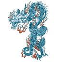 (ファンタジー) TheFantasy タトゥーシール タトゥーシール 龍 ドラゴン 肩・胸用 mqc02 【大型・A4】